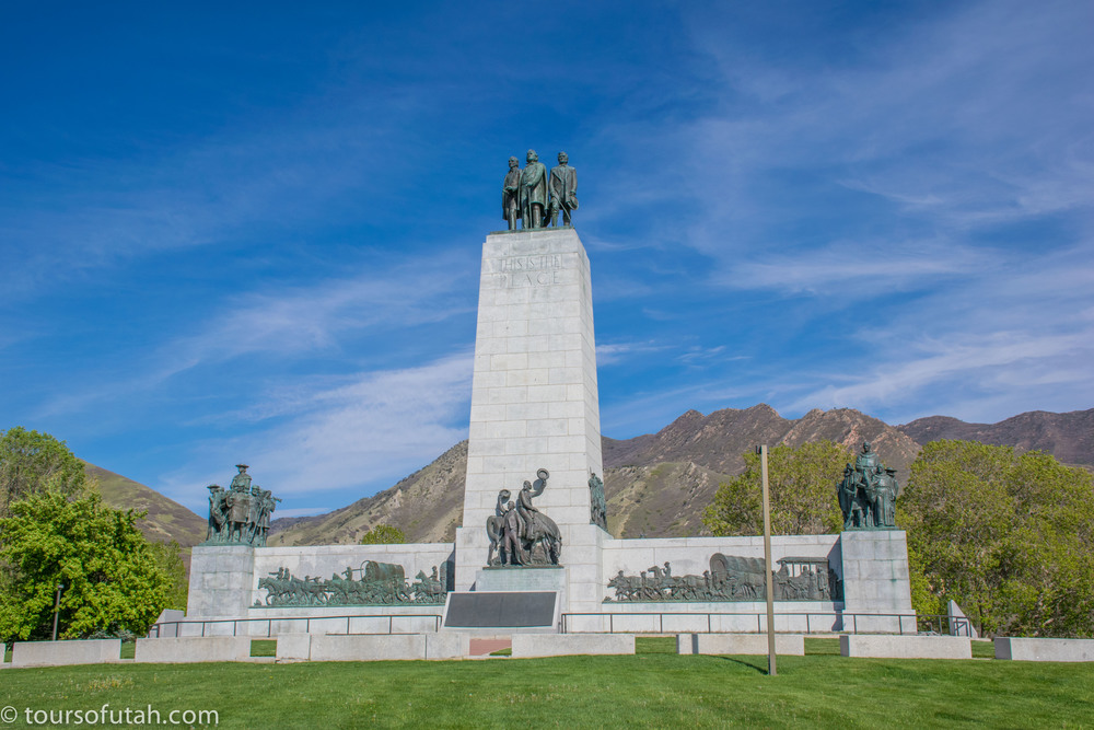 Mormon Trail Monument on Mormon Tabernacle Choir & Salt Lake City Tour