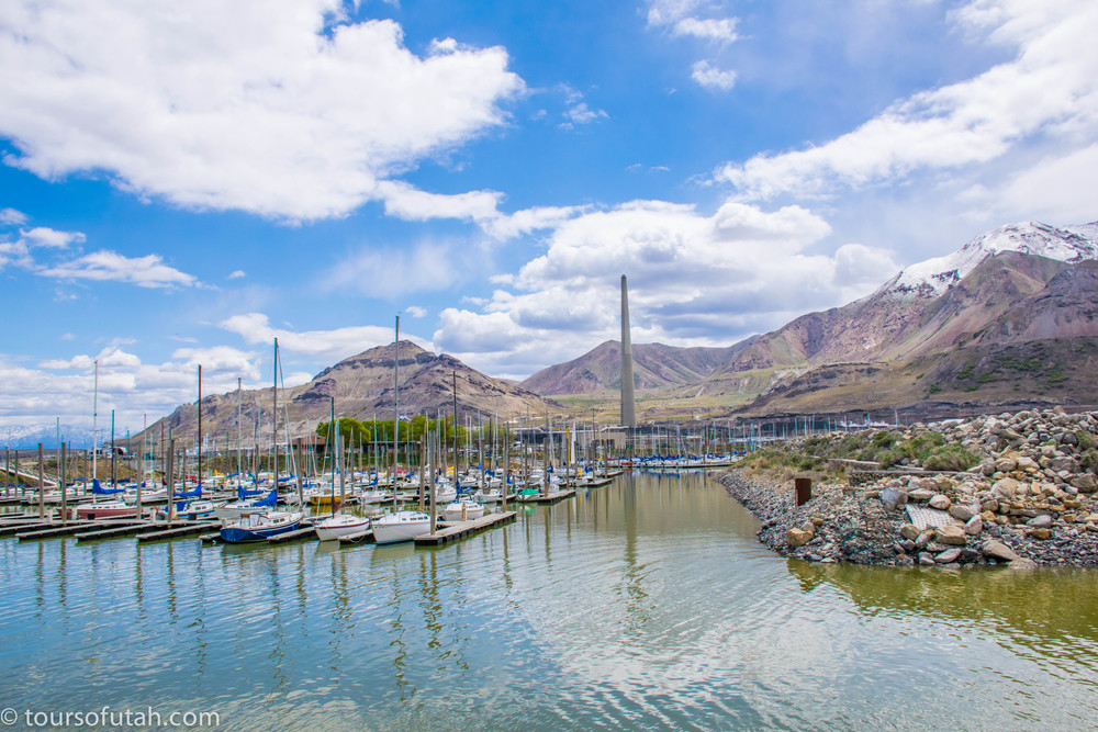 Great Salt Lake Marina on Great Salt Lake tour by bus