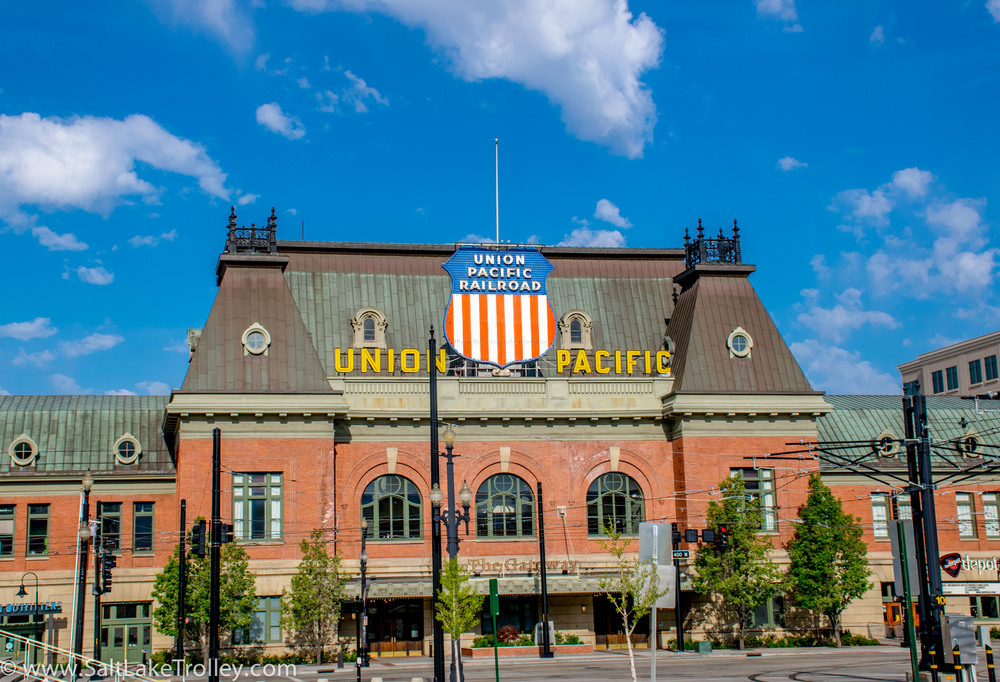Salt Lake Train station on Salt Lake Trolley Tour