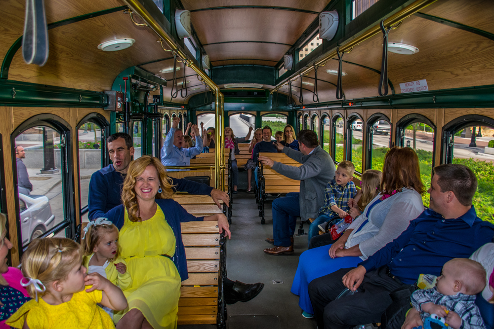 Rent the Salt Lake Trolley for group charter events and tours