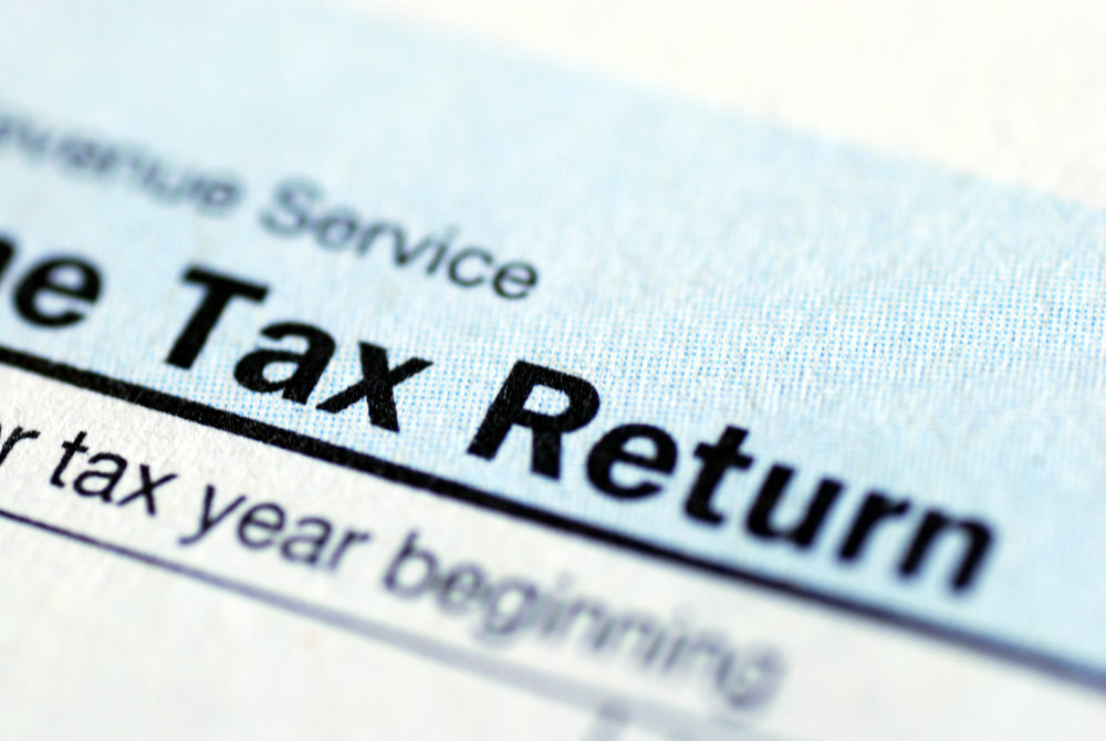 It's a tax return, and my return to blogging, get it?