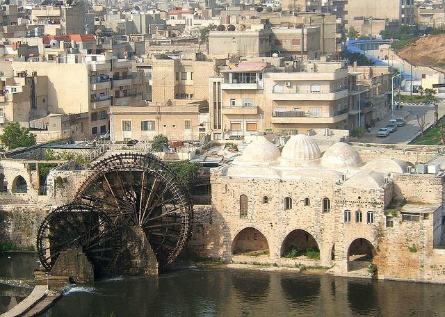 norias, Hama, Syria.