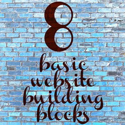 8 basic website building blocks DIY website