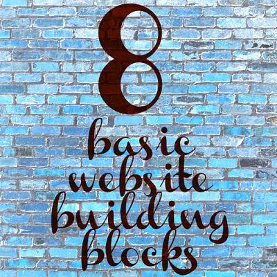 8 basic website building blocks DIY website