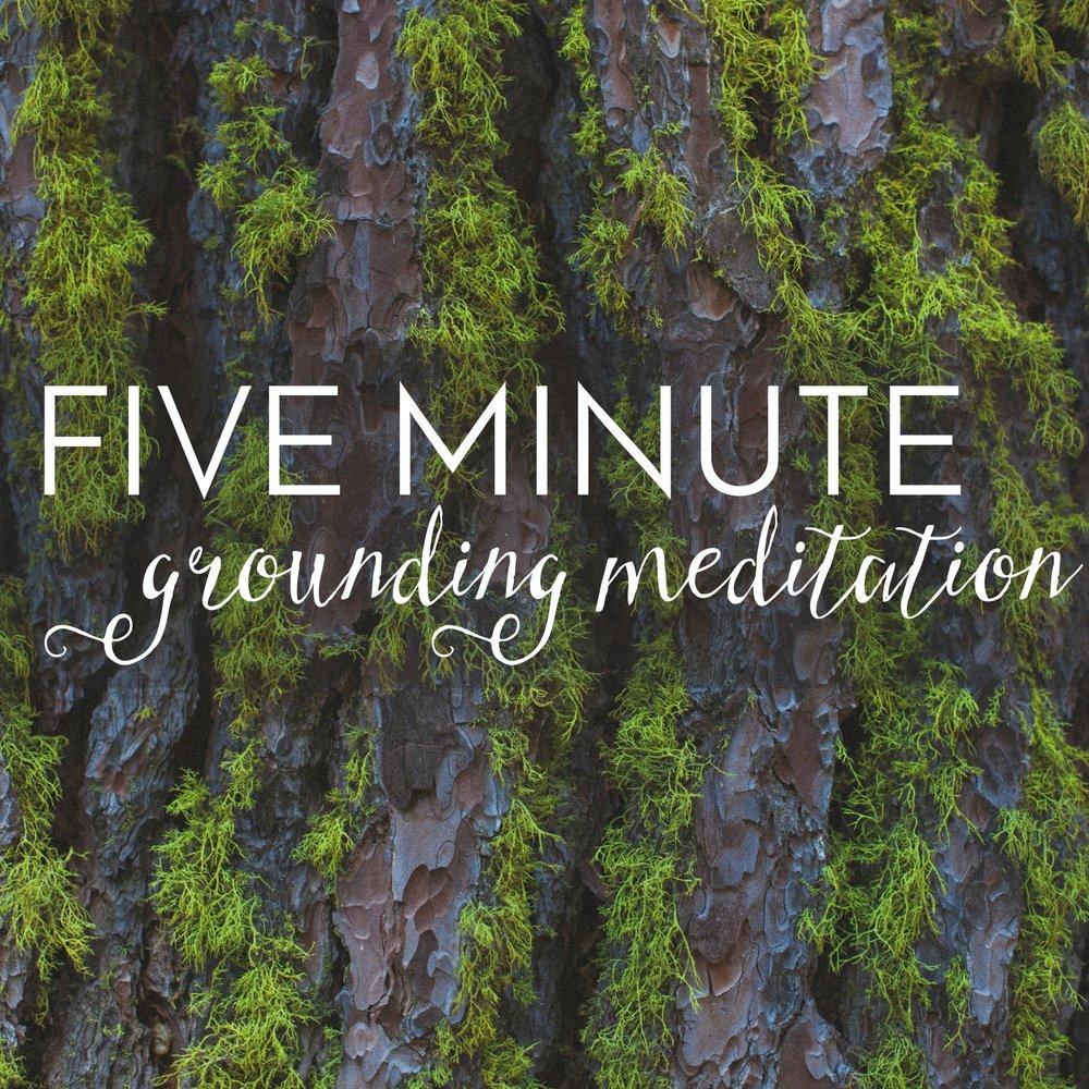 5 minute grounding meditation