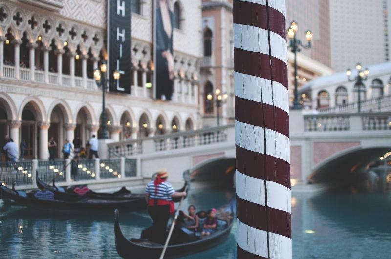 Gondolas at the Venetian.