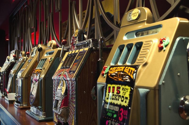 Original slot machines at the 4 Queens.