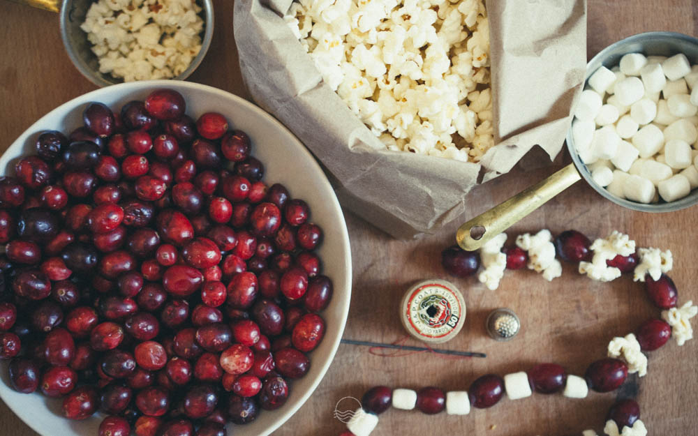 cranberry popcorn garland lune vintage blog 2jpg