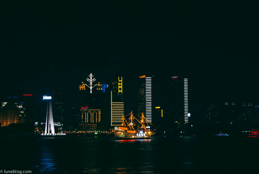The city aglow.