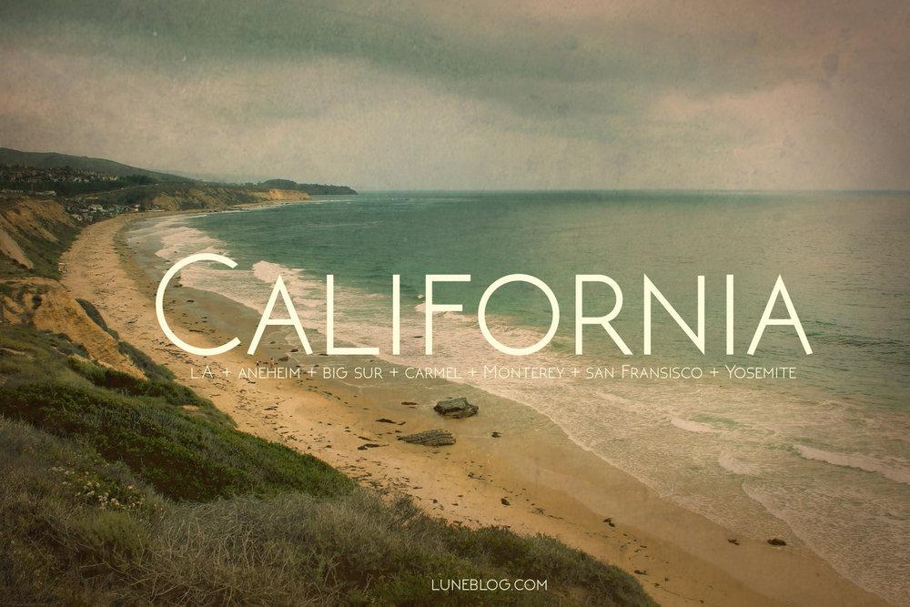 lune blog california road trip