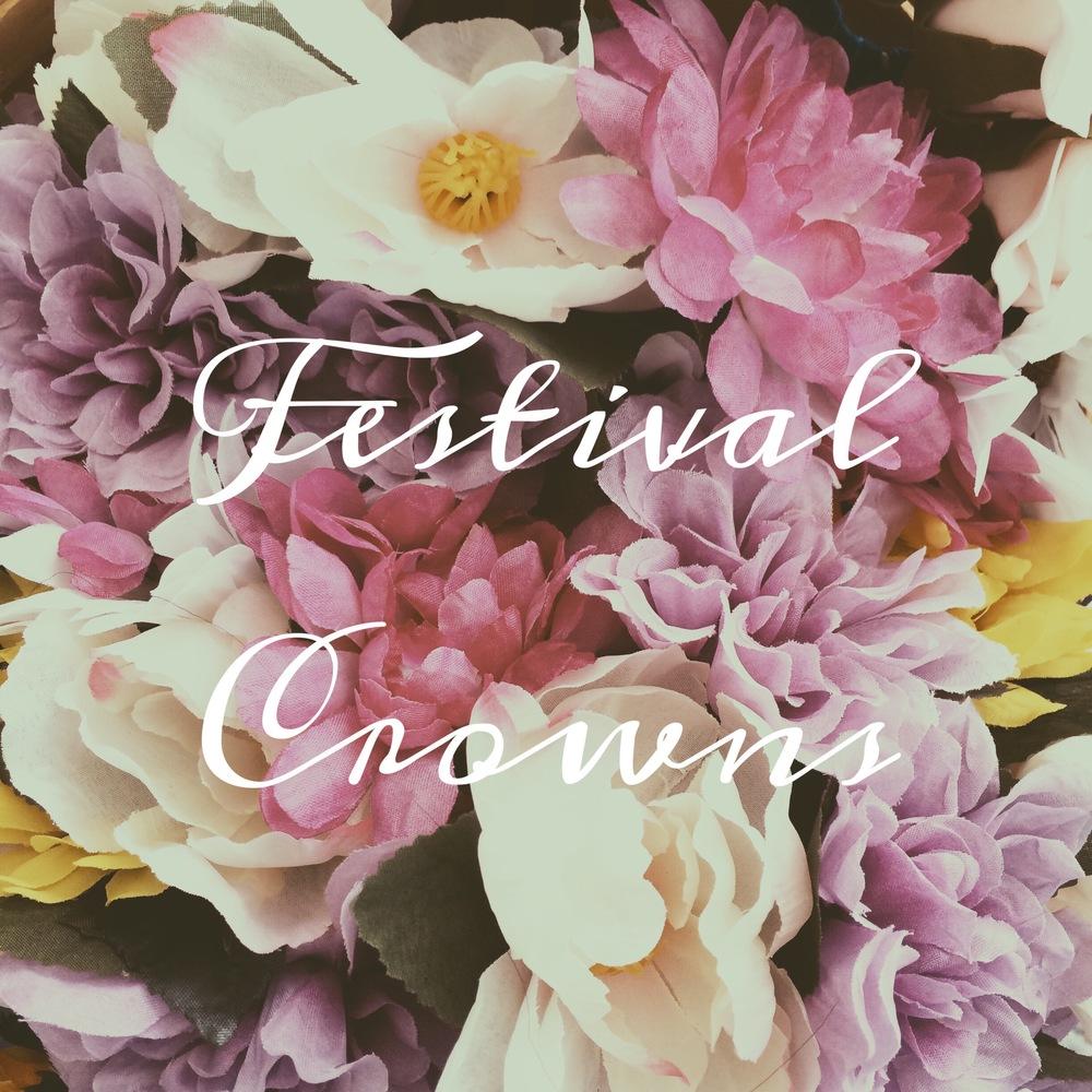 lune vintage floral festival crowns