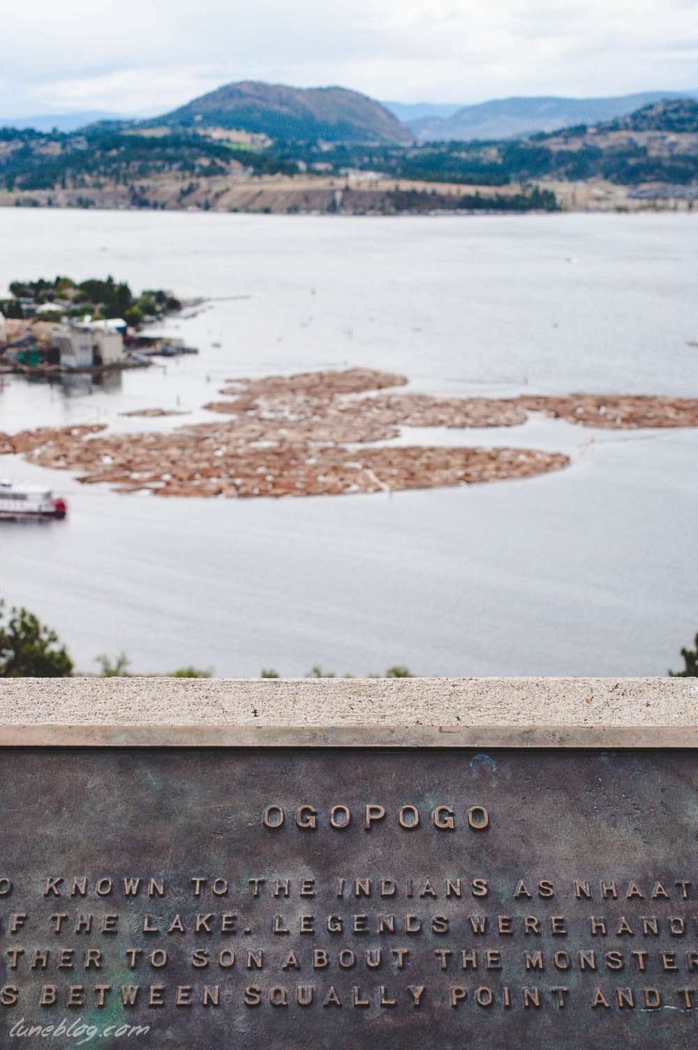 A view of Kelowna - from the Knox Mountain Overlook.
