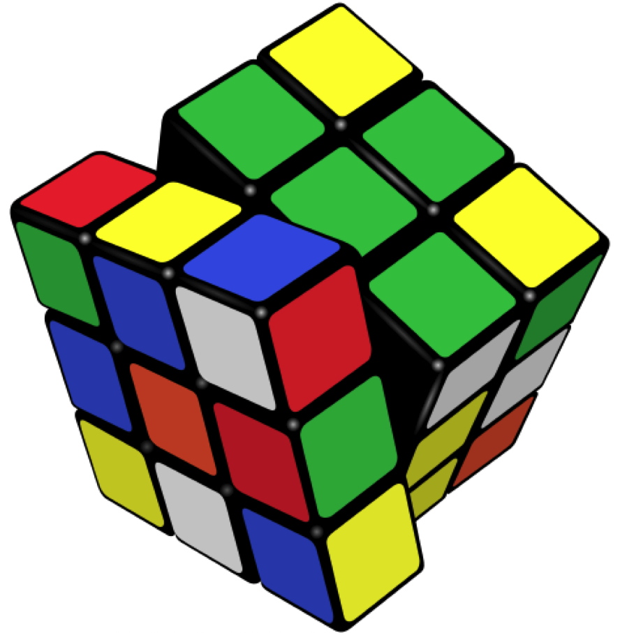Rubik's Cube is a 3-D combination puzzle invented in 1974 by Hungarian sculptor and professor of architecture Ernő Rubik.Source: http://en.wikipedia.org/wiki/Rubik's_Cube