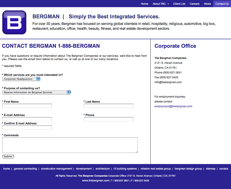 WIREFRAME  - USER REGISTRATION FORM RENDERING Description: Color rendering of the form page wireframe.