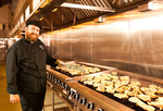 Click photo to download. Caption: Yosef Schwartz, executive chef at the Kosher Fresh Diet, at his New York kitchen. Credit: The Kosher Fresh Diet.