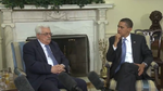 Click photo to download. Caption: Mahmoud Abbas meets with Barack Obama in the Oval Office, with an interpreter in between them. Arab-Israeli journalist Khaled Abu Toameh is a lonely dissenting Arab voice on Abbas's Palestinian Authority. Credit: White House.