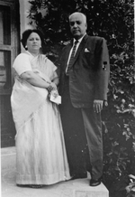 Click photo to download. Caption: Zvia Epstein's parents from Pakistan. Credit: Courtesy Zvia Epstein.