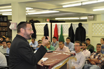 Click photo to download. Caption: Rabbi Dov Lipman gives a lecture. Credit: Rabbilipman.com.