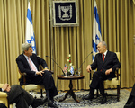 Click photo to download. Caption: Senator John Kerry speaks with Israeli President Shimon Peres in Jerusalem on March 1, 2010. Credit: U.S. Department of State.JUNE 2012