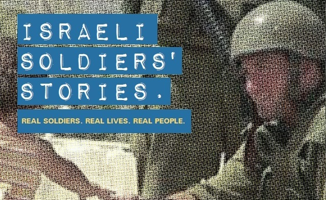 "A flyer for the StandWithUs ""Israeli Soldiers Stories"" program. Credit: StandWithUs."