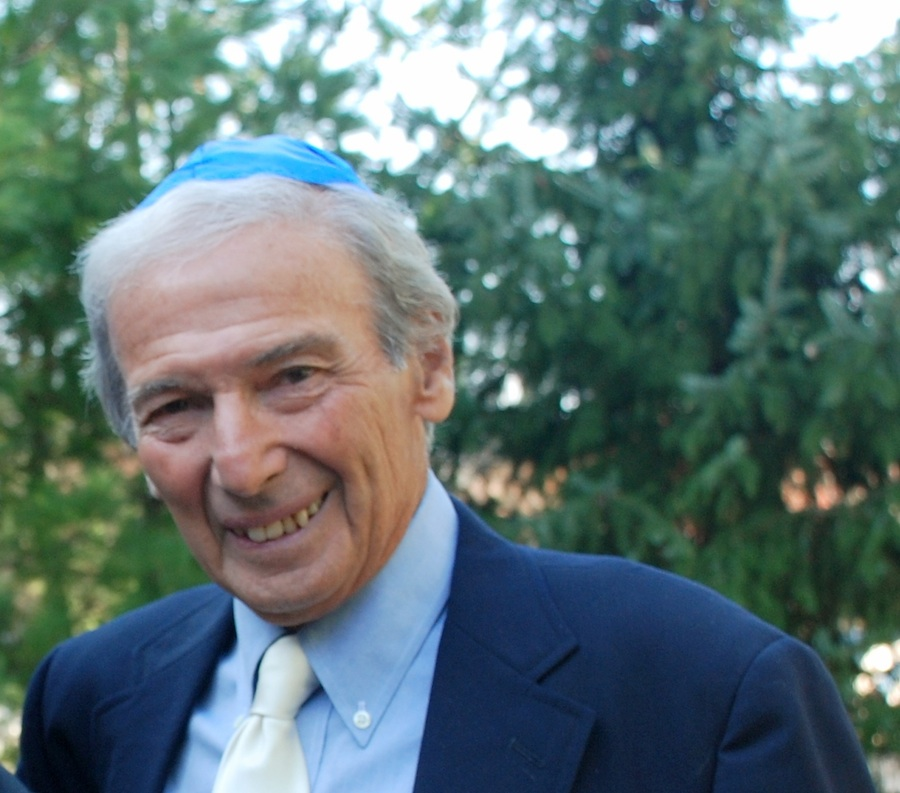 Walter M. Newman of Sharon led a five-year effort to make the documentary on Dewey Stone. This photo was taken last year at his grandson's bar mitzvah. Credit: Family of Walter M. Newman.
