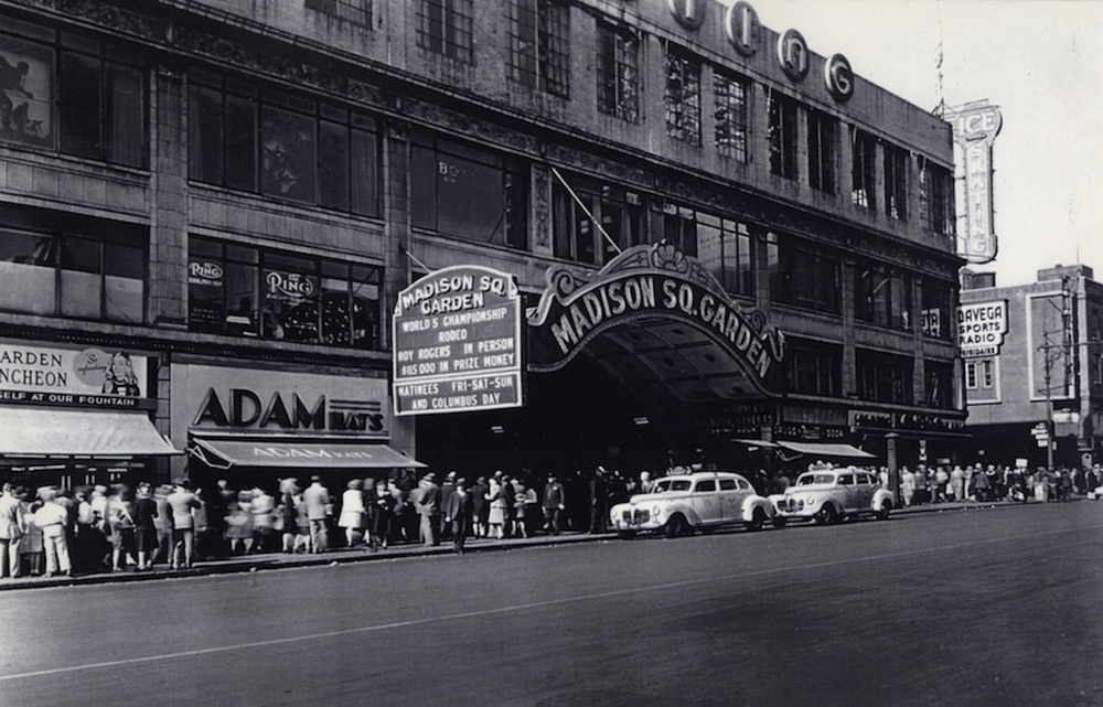 Madison Square Garden in the 1940s. Credit: Courtesy of The David S. Wyman Institute for Holocaust Studies.