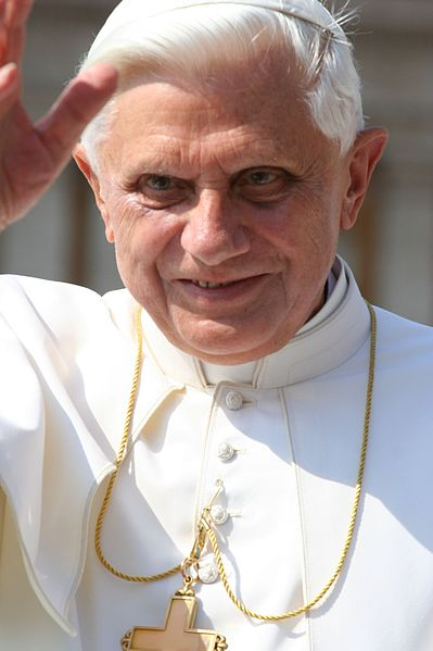 Pope Benedict XVI. Credit: Wikimedia Commons.