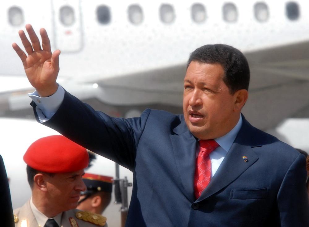 Venezuelan President Hugo Chavez in Guatemala, 2008. Credit: Agência Brasil/Wikimedia Commons.