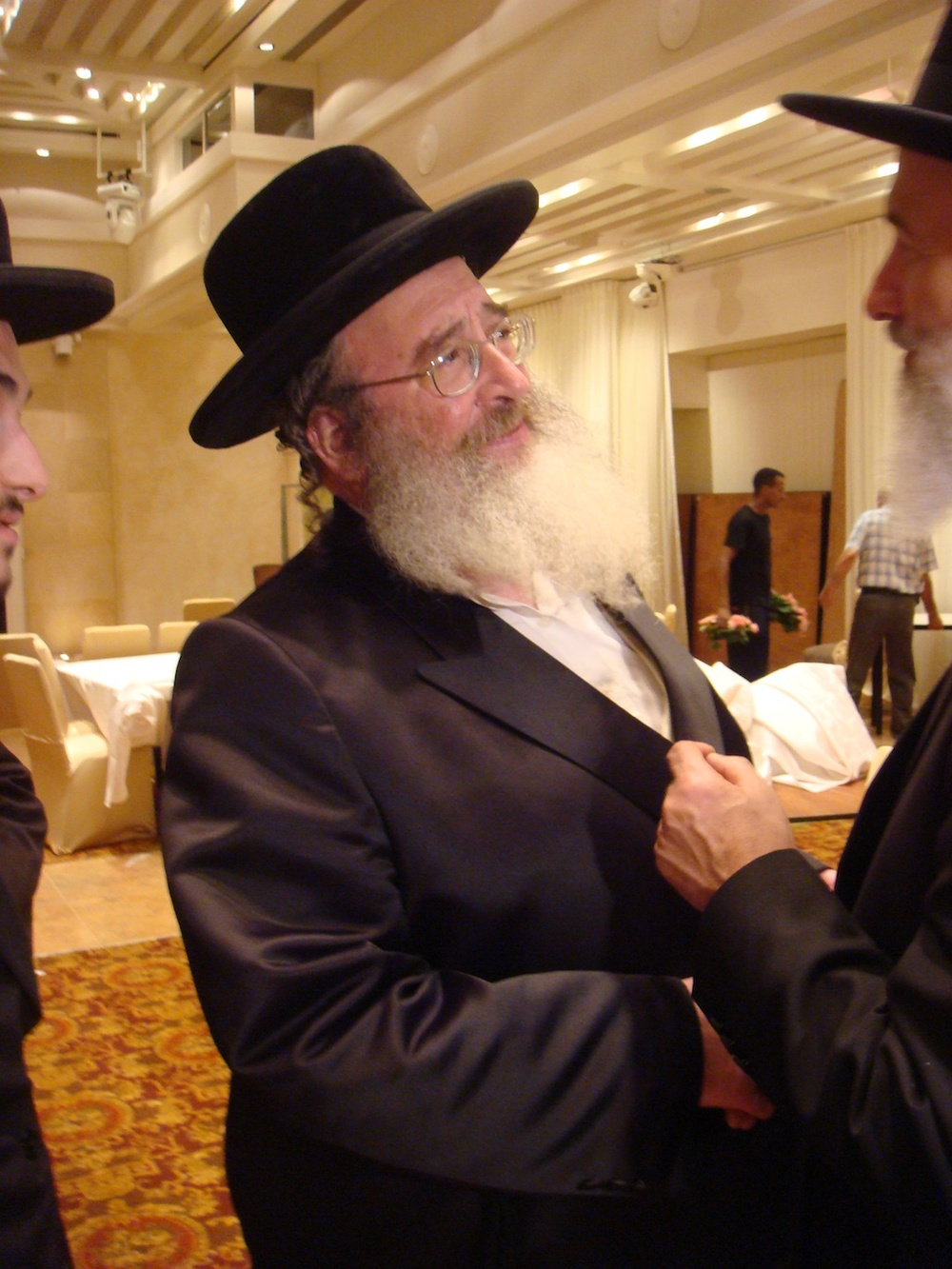 Click photo to download. Caption: The Spinka Rebbe. Credit: Lior Golgher.