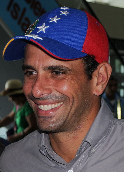 Click photo to download. Caption: Venezuelan presidential candidate Henrique Capriles. Credit: Wikimedia Commons