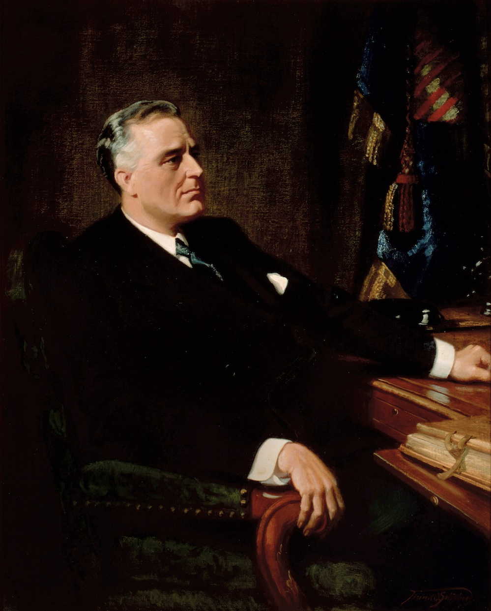 Click photo to download. Caption: A presidential portrait of Franklin Delano Roosevelt. Credit: Frank O. Salisbury.