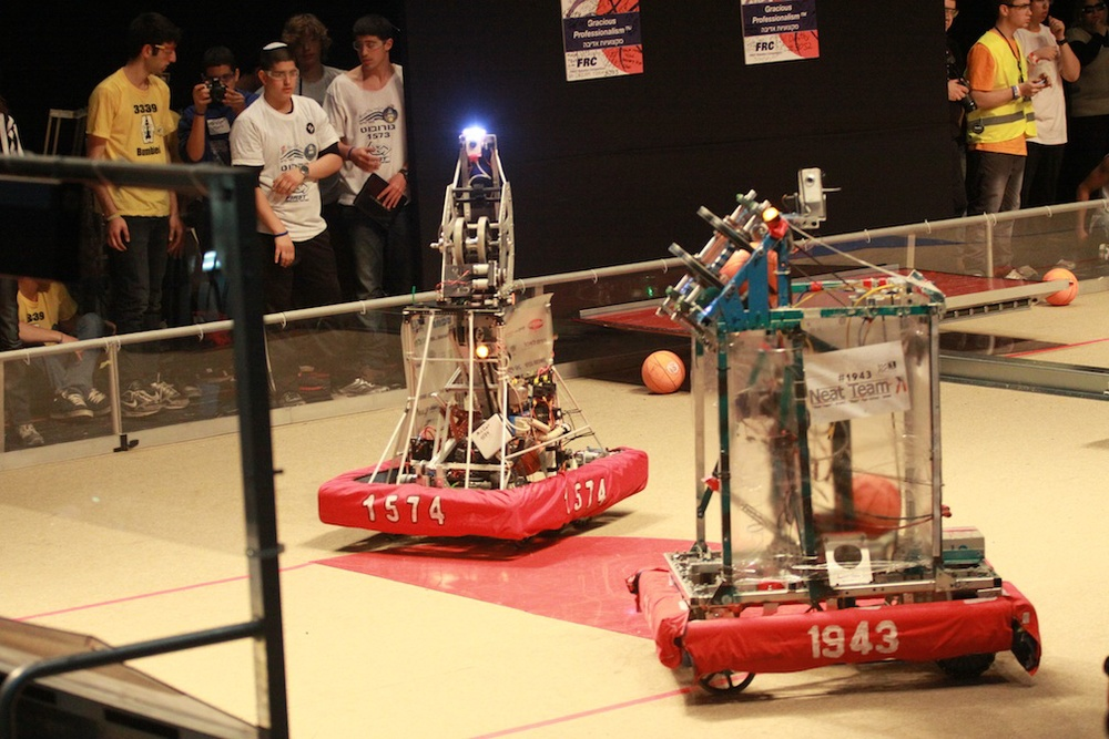 A robotics competition in Israel. Credit: Levg/Wikimedia Commons.