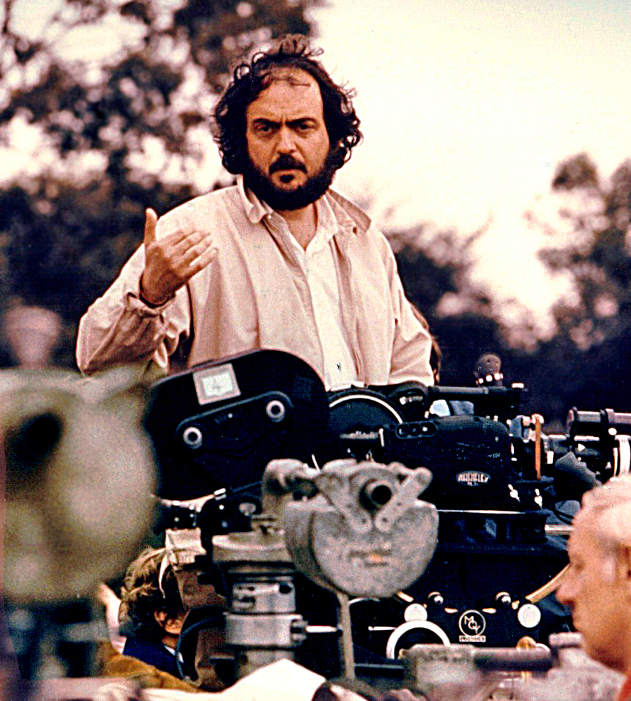 Click photo to download. Caption: The original publicity photograph taken of Stanley Kubrick during the filming of Barry Lyndon.  Credit: Wikimedia Commons.