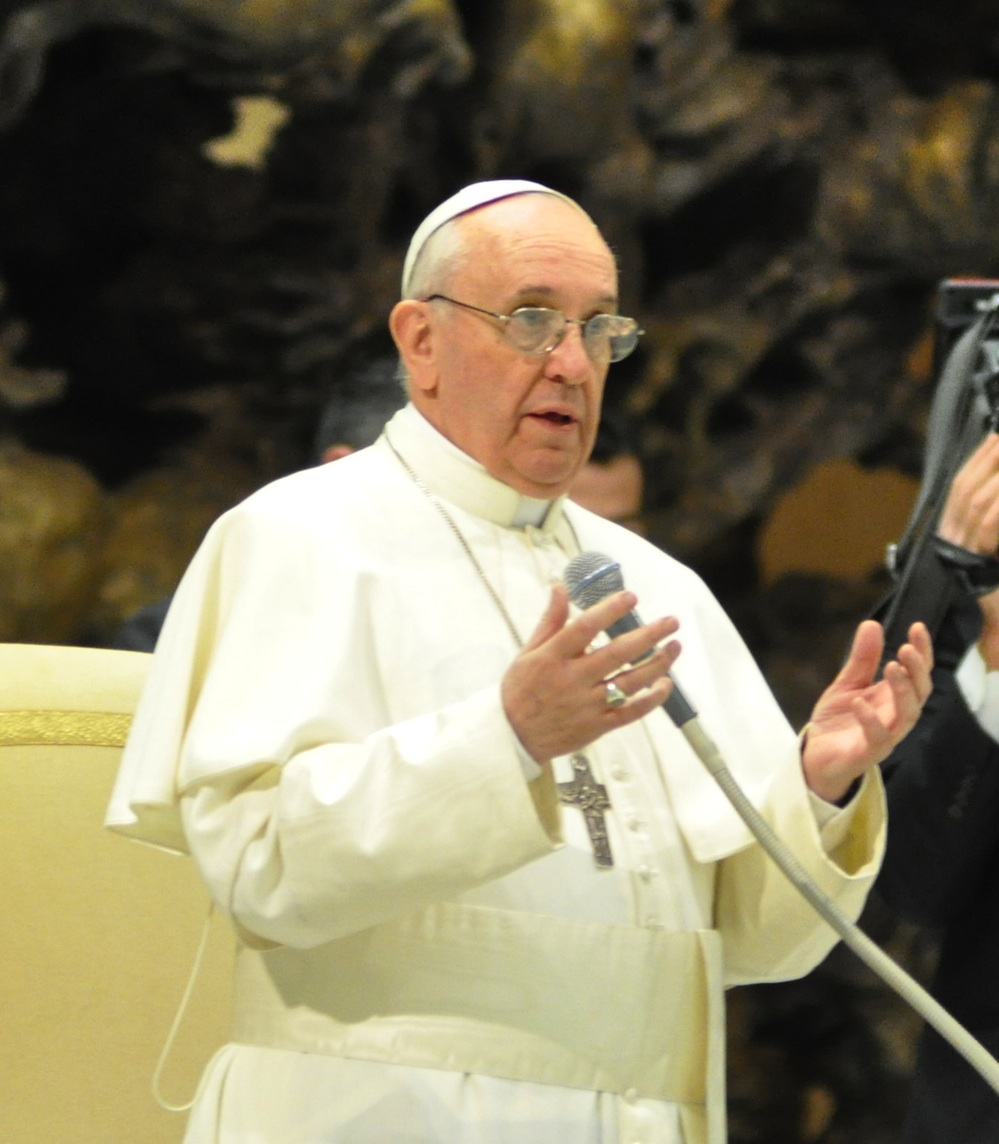 Click photo to download. Caption: Pope Francis. Credit: Tenan/Wikimedia Commobs.