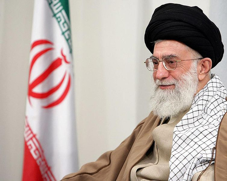 Caption: Iran's Supreme Leader Ayatollah Ali Khamenei. Credit: www.sajed.ir via Wikimedia Commons.