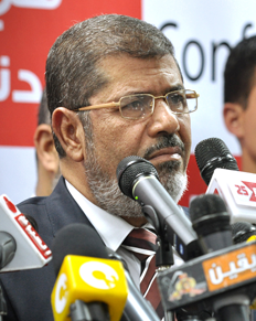 Egyptian President Mohamed Morsi pledged to protect Egypt's Christians. Credit: Jonathan Rashad.