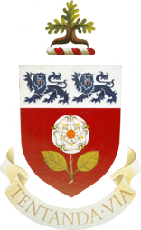 The York University coat of arms. Credit: Wikimedia Commons.