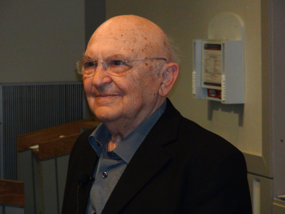 Israeli novelist Aharon Appelfeld at the University of Pennsylvania. Credit: Kevin Walsh.