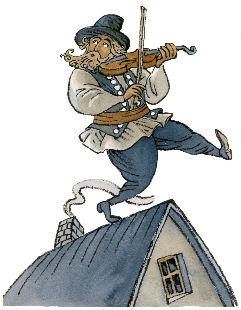 "Click photo to download. Caption: A sketch of Tevye from ""Fiddler on the Roof."" Credit: Morburre."