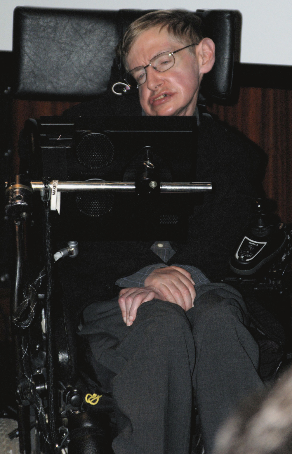 Click photo to download. Caption: British theoretical physcist Stephen Hawking. Credit: Wikimedia Commons.