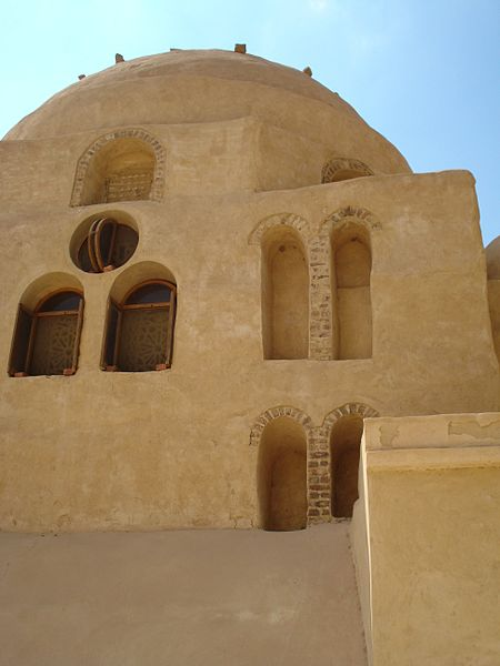Click photo to download. Caption: A Christian Coptic Orthodox Monastery in Lower Egypt. Credit: Wikimedia Commons.