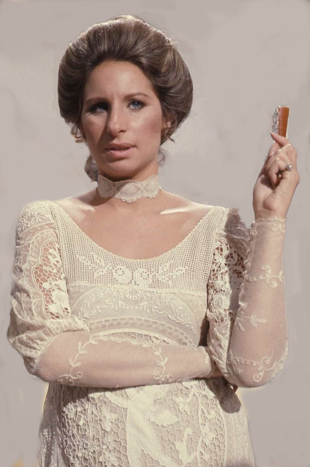 "Click photo to download. Caption: Barbra Streisand, who in 1978 sang a rousing rendition of ""Hatikvah."" Credit: Allan Warren."