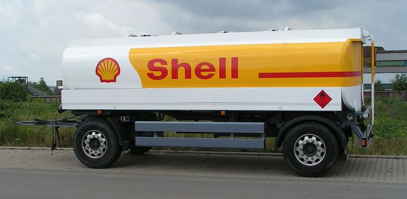 Click photo to download. Caption: Shell truck. Royal Dutch Shell is considering selling its share of another company because that company bought a share of the Israel Leviathan natural gas field reserve. Credit: Stefan Kühn via Wikimedia Commons.