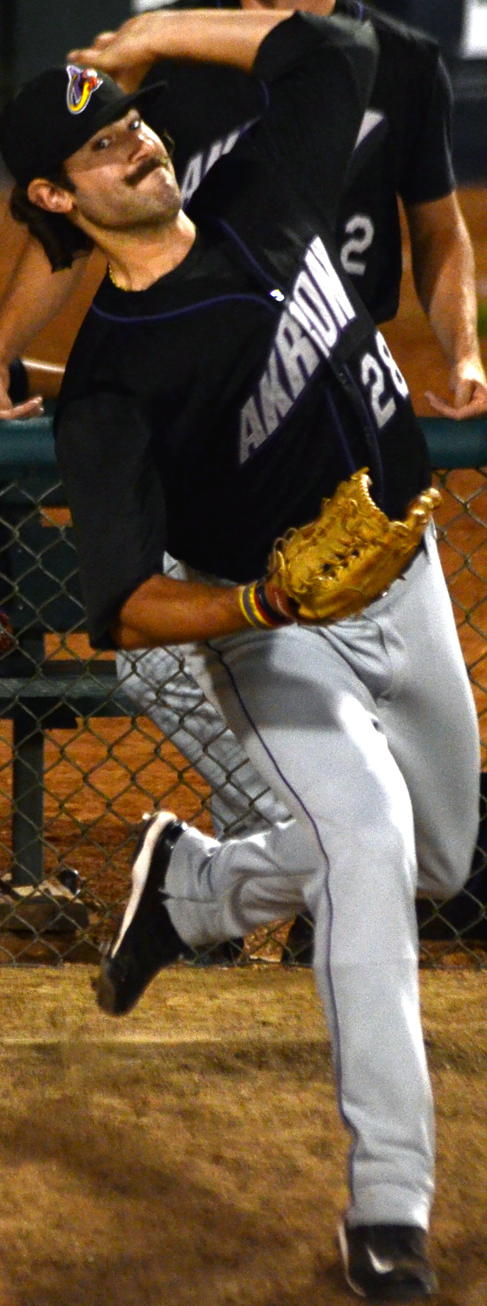 Click photo to download. Caption: Cleveland Indians minor league pitcher Eric Berger. Credit: Ken Mandel.