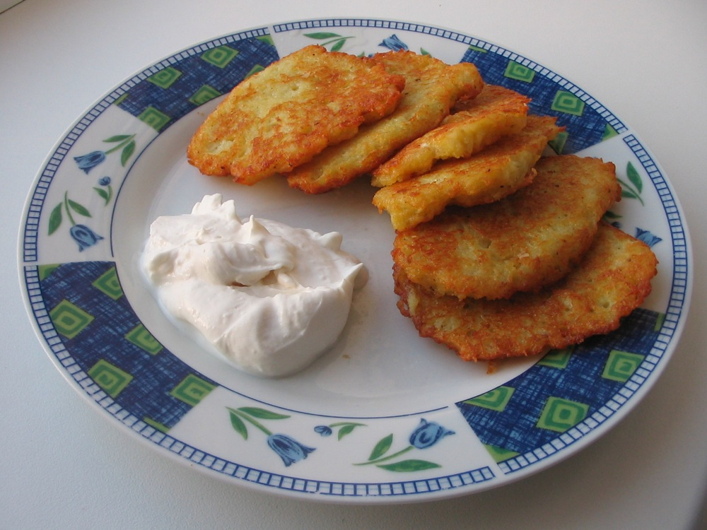 Click photo to download. Caption: A traditional latke can be taken halfway around the world with a few turns of the wrist. Credit: Kagor.