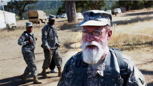 Click photo to download. Caption: Col. Rabbi Jacob Goldstein (pictured) has served in the army for more than 30 years with a beard, after receiving special permission from Gen. Bernard Rogers. Credit: U.S. Army.
