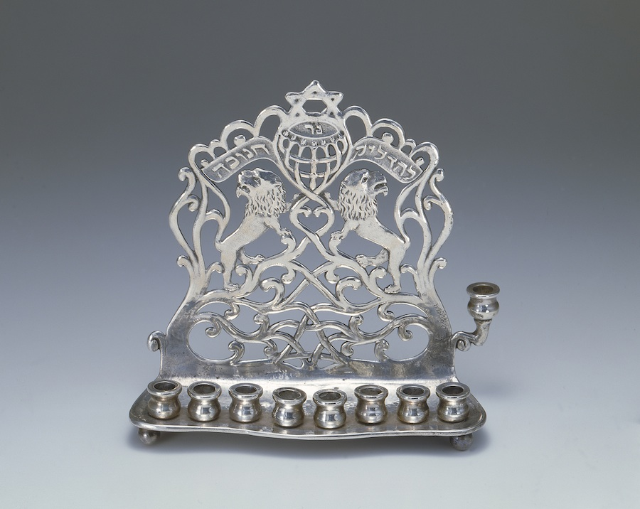Click photo to download. Caption: A menorah from Copenhagen selected by famed author-illustrator Maurice Sendak for a current exhibit at the The Jewish Museum in New York. Courtesy The Jewish Museum.