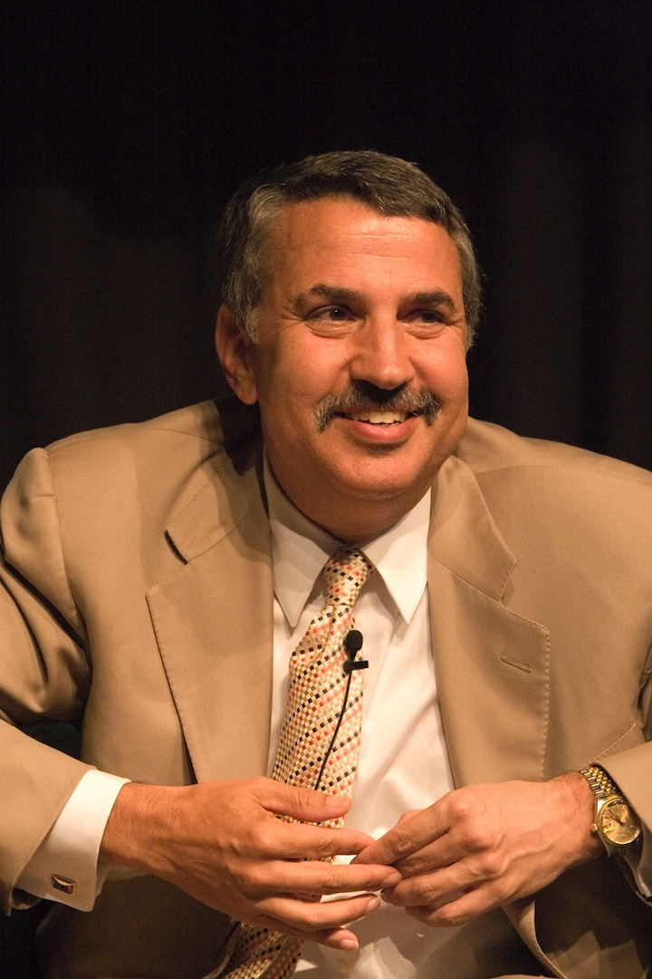 Click photo to download. Caption: Thomas Friedman. Credit: Charles Haynes.