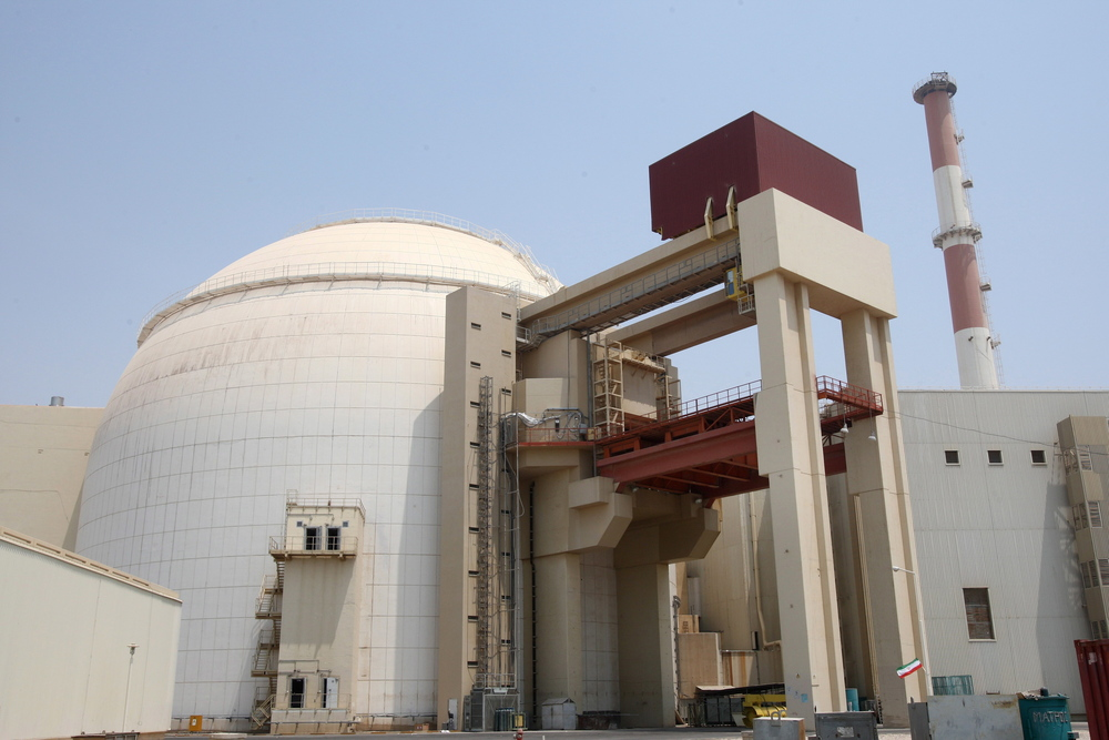 Click photo to download. Caption: Iranian nuclear power plant in Bushehr, souther Iran. Credit: EPA/Abedin Taherkenareh.