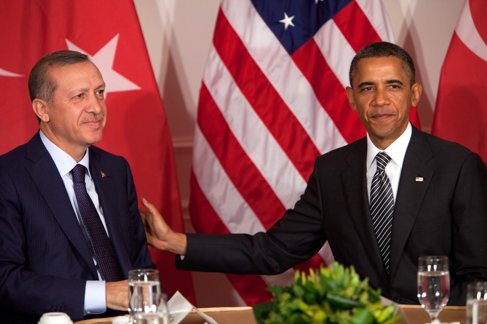 Click photo to download. Caption: The Obama Administration has shied away from criticizing Turkey, mainly because it sees Turkey as the primary counter to Iranian influence in the Middle East. Credit: EPA/ ALLAN TANNENBAUM